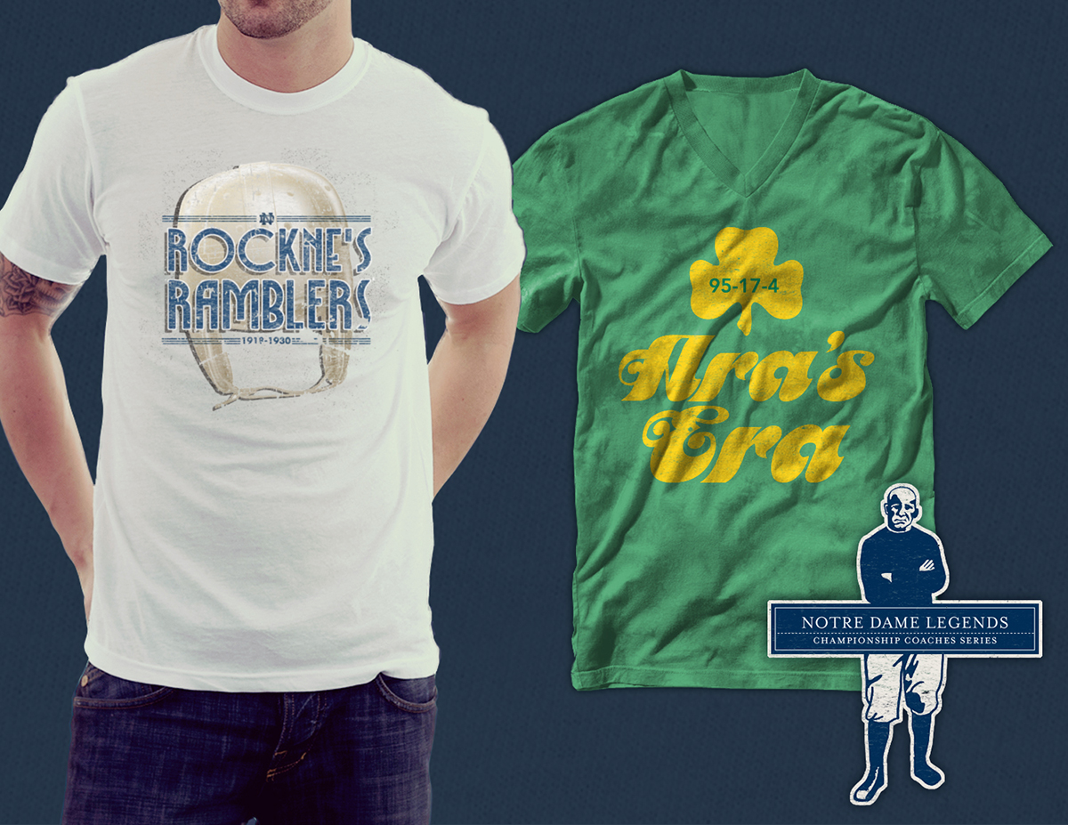 Sports Apparel Design Moonlight Graham Notre Dame