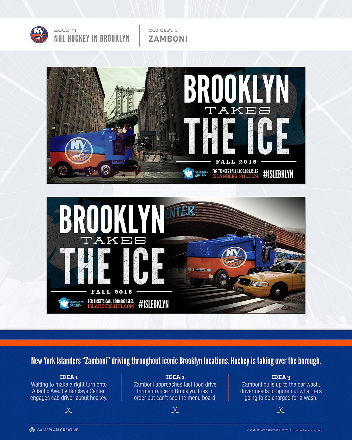 New York Islanders Pitch Boards Concepts
