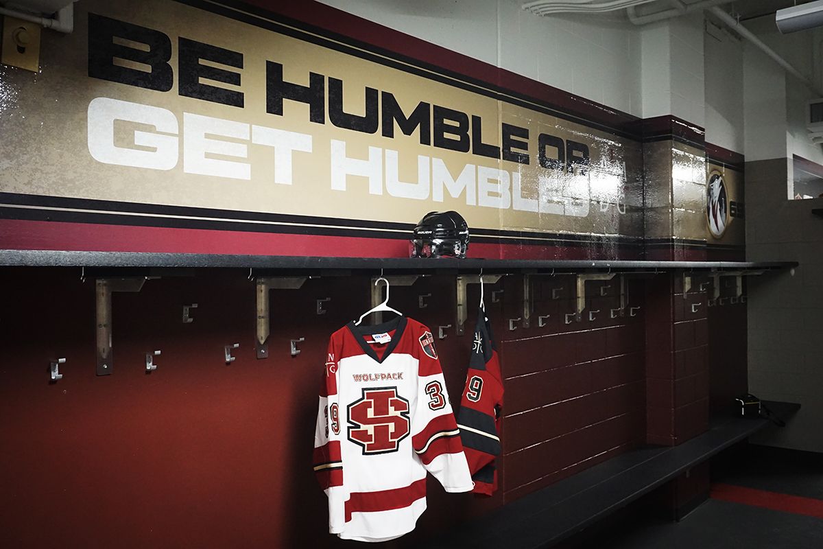 Saint Ignatius Hockey Locker Room Branding