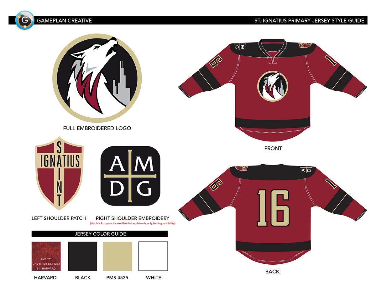 Saint Ignatius Hockey Jersey Design and Style Guide