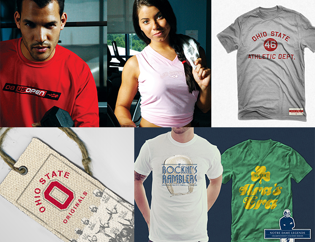sports apparel design us open notre dame ohio state collections